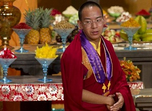 The Beijing-appointed Panchen Lama at a Buddhist ceremony in Hong Kong, April 25, 2012.