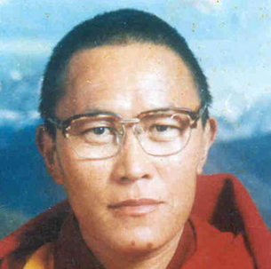 A photo of Tulku Tenzin Delek Rinpoche taken by his monastery in Tibet in the 1990s.
