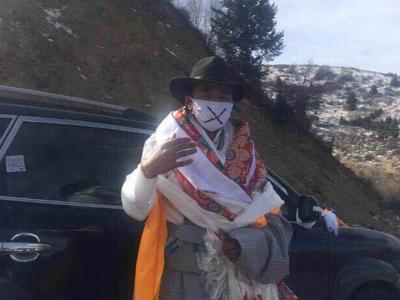 Phakpa, following his release from prison, Jan. 22, 2015.