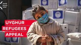 A promotional image from the World Jewish Relief fundraising appeal for needy Uyghur families who fled the XUAR to Turkey.