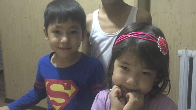 Muyesser's children in Kazakhstan, in an undated photo. Credit: Sevirdin