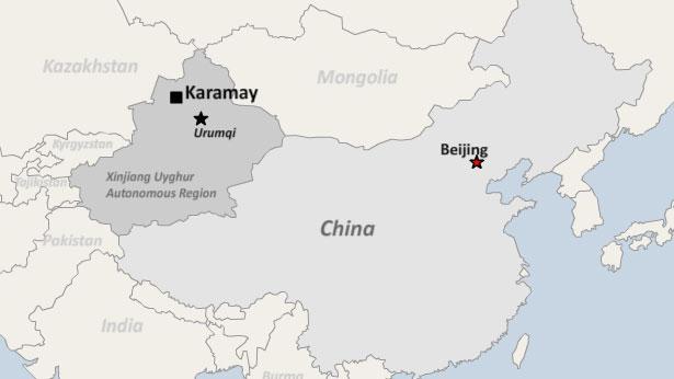 Map Xinjiang.Chinese Police Detain At Least 10 Ethnic Kazakhs In Xinjiang For