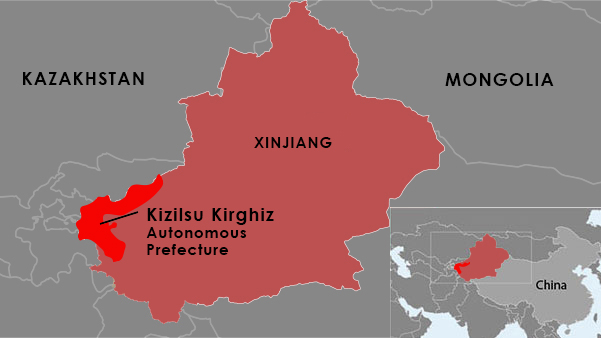 Map Xinjiang.Xinjiang Authorities Holding Hundreds From Kyrgyz Village In