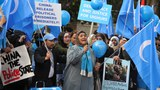 Uyghurs protest outside the Chinese Consulate in Melbourne, in a file photo.