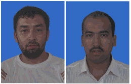 Nurahmet Kudret (L) gets life sentence and Musa Muhamad (R) receives 17-year jail term. Photo: RFA