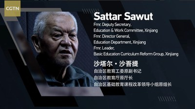 Sattar Sawut, former director of education of the XUAR, shown in a documentary detailing his 'crimes' on Chinese state television, in an undated photo.
