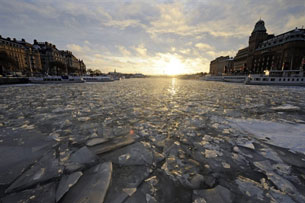 Stockholm harbor, Jan. 27, 2010.