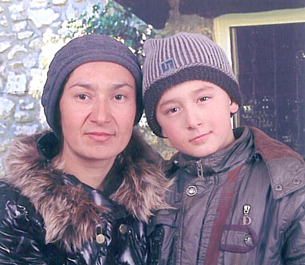 Nurgul Tohti and her son Abbas Tayir, Dec. 25, 2011.
