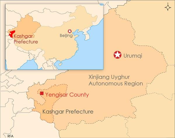 Xinjiang Kaşgar İl Haritası ile ilgili görsel sonucu