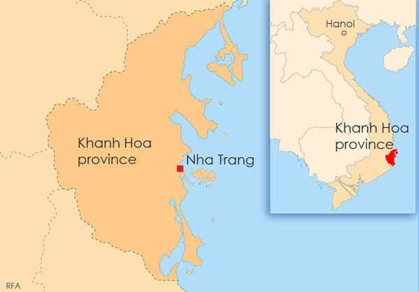 Nha Trang Vietnam Map.Vietnamese Blogger Held For Distributing Rights Leaflets