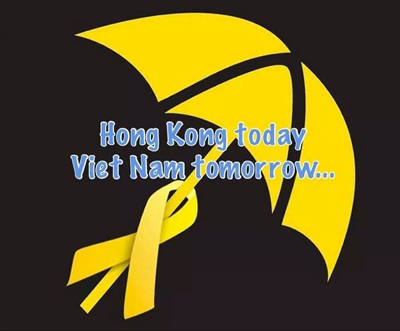 The image used in the statement by the 22 Vietnamese groups supporting the Hong Kong pro-democracy movement. Credit: RFA