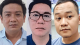 Vietnamese independent journalists Nguyen Thanh Nha, Nguyen Phuoc Trung Bao, and Doan Kien Giang are shown left to right in undated photos.