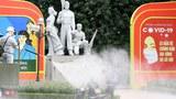 Disinfection activity in Hanoi, Vietnam on July 26, 2021 Photo credit: