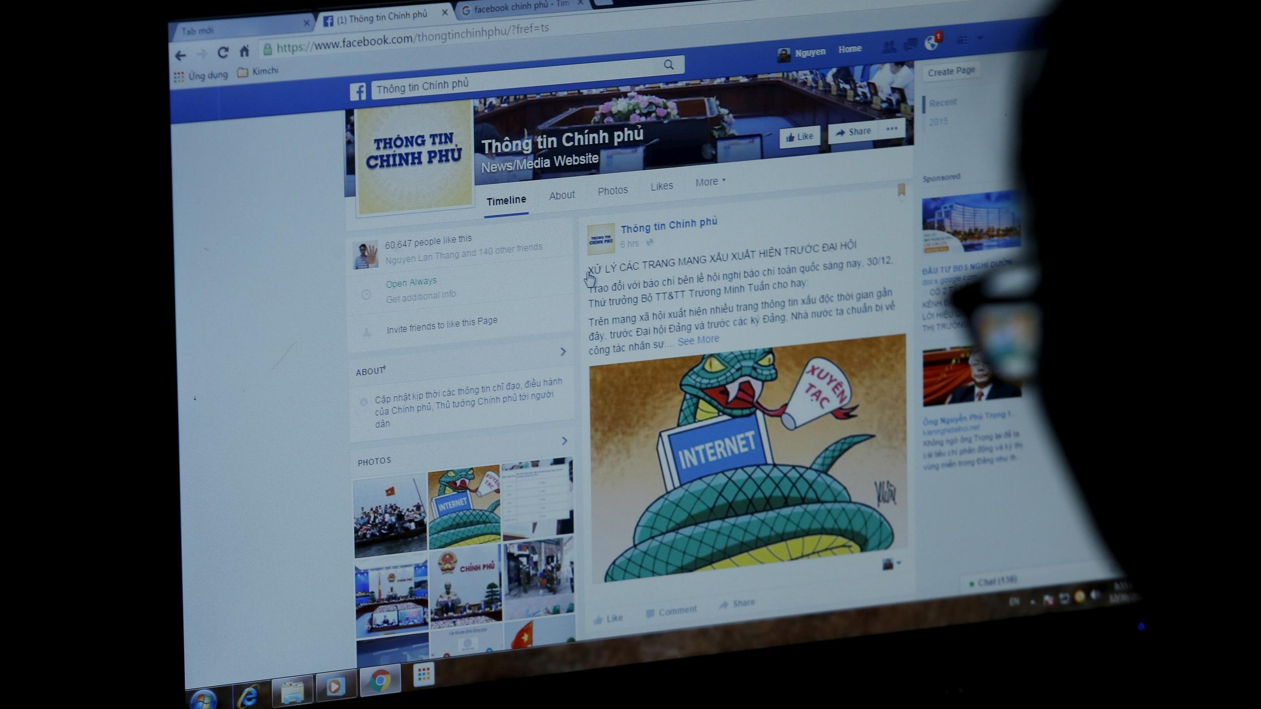 Facebook Bowed to 'Vietnam's Extortion' by Censoring Content, Human Rights Watch Says
