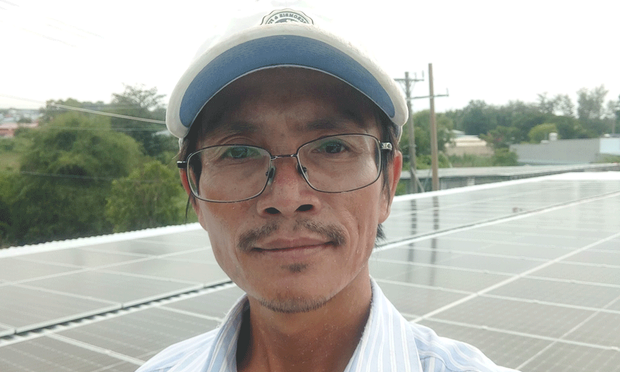 Vietnamese Facebook user Nguyen Van Son Trung is shown in an undated photo.