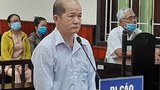 Vietnamese blogger Le Van Hai is shown at his trial in Binh Dinh province, March 31, 2021.