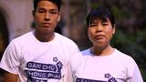 Can Thi Theu (R) and her son, Trinh Ba Tu (L), in an undated photo.