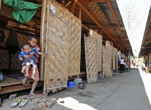 Kachin children at a refugee camp in Myitsone, northern Burma, Feb. 26, 2012.