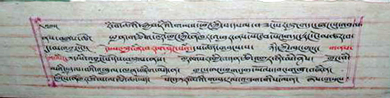 A Sera Khandro manuscript, written in yiknak script. Photo: Sarah Jacoby