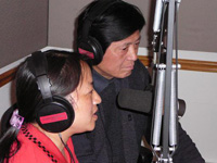 Wu Chuntao and husband Chen Guidi in RFA's Washington DC studios. Photo: RFA