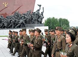 북한 선군절 기념식