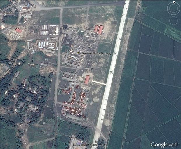 원산시 갈마거리에 조성하는 '원산-금강산 국제관광지대' 공사가 진행 중에 있다. 사진-구글 어스 캡쳐/ 커티스 멜빈 제공