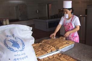 세계식량계획이 운영하는 북한 내 영양과자 공장.