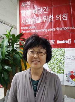 김영자 북한인권시민연합 사무국장. (RFA PHOTO/박성우)