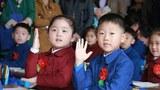 평양의 한 소학교의 학생들.