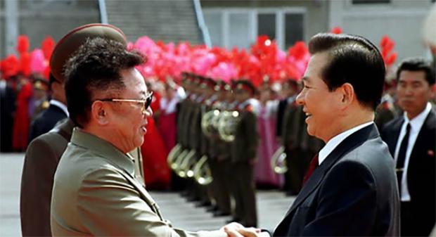 2000년 1차 남북정상회담 당시 김대중 대통령과 김정일 국방위원장
