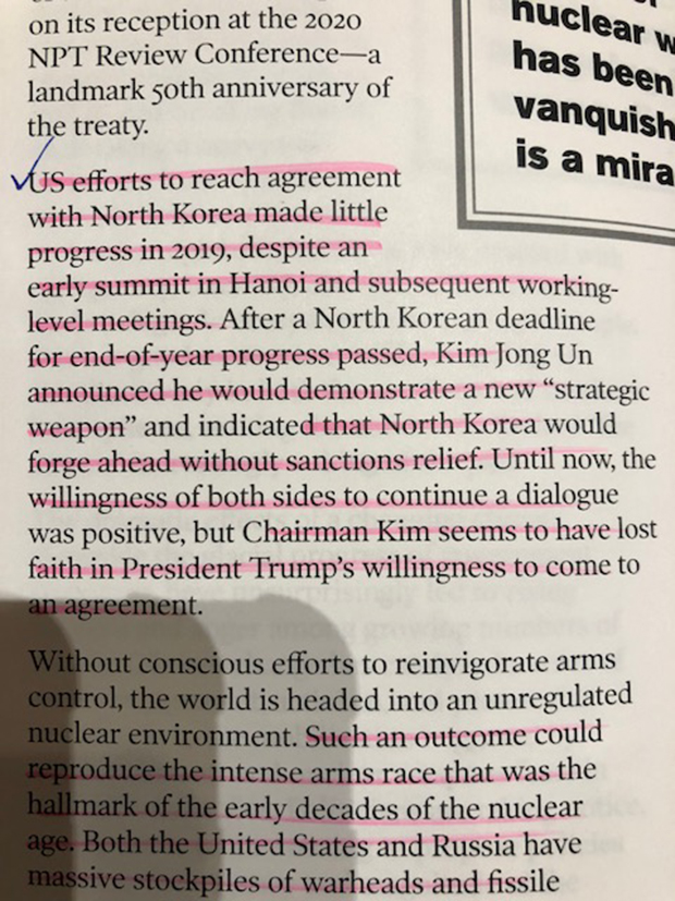 미 핵과학자회가 핵 위기의 하나로 지적한 미북 비핵화 협상의 교착 국면.