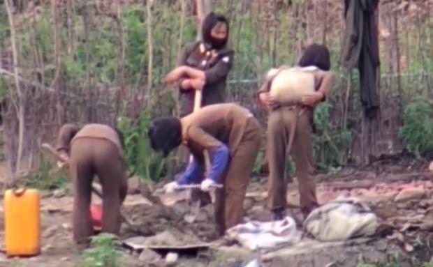 [특집: 북 여군들의 힘겨운 여름나기]  ①  일상이 된 땡볕 '맨몸' 공사