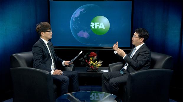 자유아시아방송(RFA)에 출연한 강정민 전 한국 원자력안전위원회 위원장.