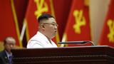 사진은 김정은 북한 노동당 총비서가 세포비서대회에 참석해 폐회사를 하는 모습.