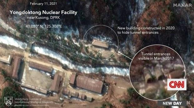 """""""북, 용덕동 핵시설 내 지하터널 입구 은폐 시도"""""""