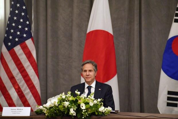 """국무부 """"한미일, 한반도 비핵화 협력 재확인"""""""