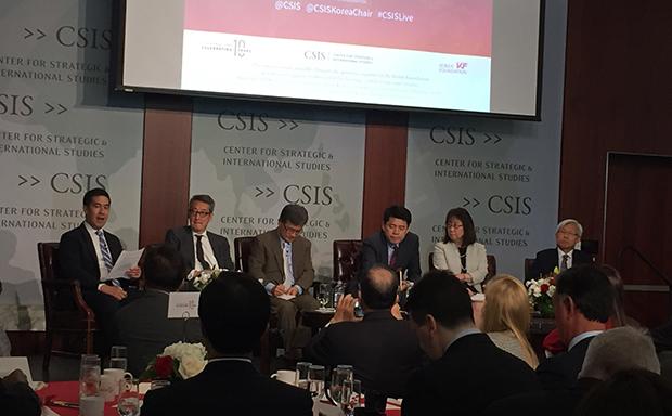 미국 전략국제문제연구소(CSIS)가 24일 개최한 '한미 전략포럼' 모습.