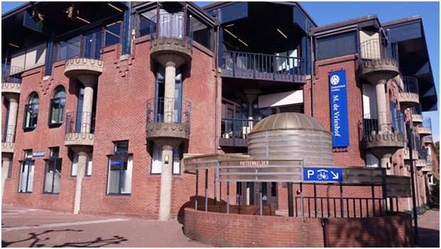 네덜란드 라이덴 대학의 한국학 센터가 있는 건물. RFA PHOTO/ 양희정