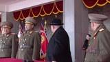 북한 조선중앙TV가 8일 녹화 중계한 '건군절' 기념 열병식의 주석단에는 평창동계올림픽에 참가하는 북한 고위급대표단 단원인 김여정(붉은 원) 노동당 중앙위원회 제1부부장의 모습도 포착됐다.