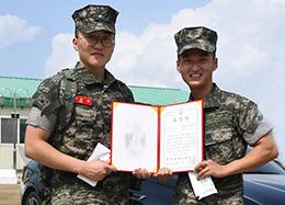 귀순한 북 주민 발견한 해병대원들