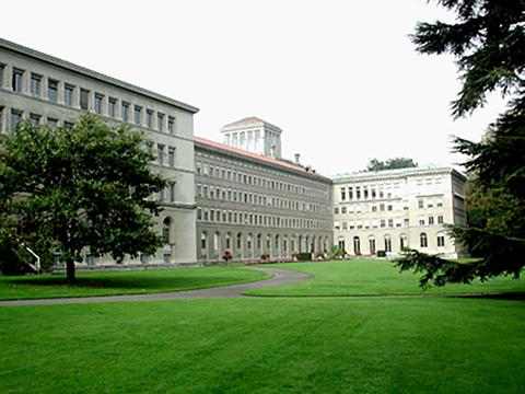 스위스 제네바의 세계무역기구 본사 건물.