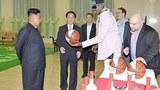 북한 김정은 국방위원회 제1위원장이 방북 중인 미국프로농구(NBA) 출신의 데니스 로드먼을 만났다고 조선중앙통신이 7일 보도했다.