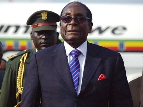 짐바브웨의 로버트 무가베 전 대통령.