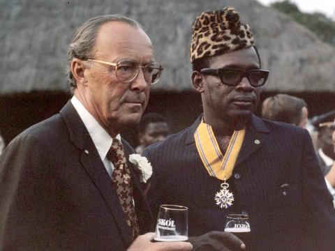 콩고민주공화국(전 자이르공화국)의 모부투 세세 세코(Mobutu Sese Seko).