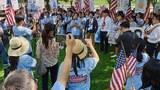 KCC가 주관한 '차세대 서머 인턴십 컨퍼런스'행사가  백악관 앞에서 펼쳐지고 있다.
