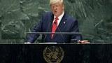 트럼프 대통령이 지난 24일 유엔 총회에서 기조연설을 하고 있다.