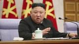 김정은 북한 노동당 총비서가 8일 열린 당 중앙위원회 제8기 제2차 전원회의를 주재하고 있다.