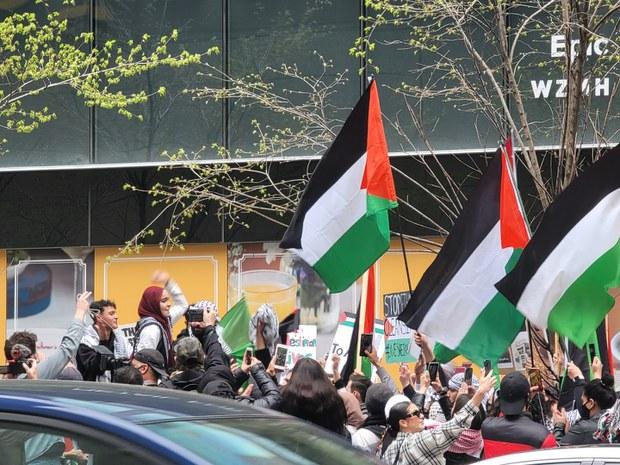 토론토, 팔레스타인의 반이스라엘 시위