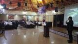지난 15일 우즈베키스탄 타슈켄트에서 도희윤 행복한통일로 대표가 고려인 동포를 대상으로 강연하고 있다.