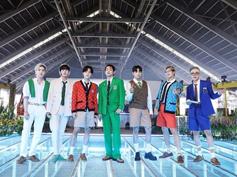 사진은 BBC 라디오 1 '라이브 라운지'에 출연한 그룹 방탄소년단(BTS).
